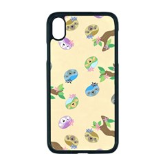 Sloth Neutral Color Cute Cartoon Iphone Xr Seamless Case (black)