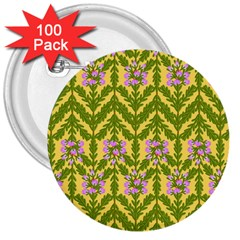 Texture Nature Erica 3  Buttons (100 Pack)  by HermanTelo
