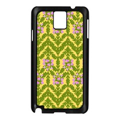 Texture Nature Erica Samsung Galaxy Note 3 N9005 Case (black) by HermanTelo