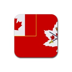 Flag Of The Canadian Army Rubber Square Coaster (4 Pack)  by abbeyz71