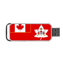Flag Of The Canadian Army Portable Usb Flash (two Sides) by abbeyz71