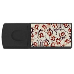 Modern Floral Pattern Rectangular Usb Flash Drive by tarastyle