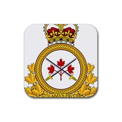 Badge Of The Canadian Army Rubber Coaster (square)  by abbeyz71