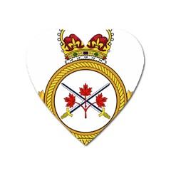 Badge Of The Canadian Army Heart Magnet by abbeyz71