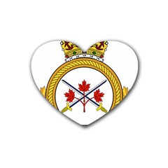 Badge Of The Canadian Army Rubber Coaster (heart)  by abbeyz71