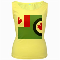Air Force Ensign Of Canada Women s Yellow Tank Top by abbeyz71