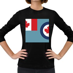 Air Force Ensign Of Canada Women s Long Sleeve Dark T-shirt by abbeyz71