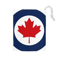 Roundel Of Canadian Air Force Drawstring Pouch (large) by abbeyz71