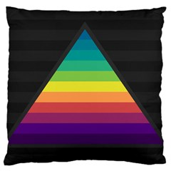 Background Rainbow Stripes Bright Standard Flano Cushion Case (one Side)