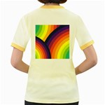 Background Rainbow Colors Colorful Women s Fitted Ringer T-Shirt Back