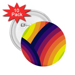 Background Rainbow Colors Colorful 2 25  Buttons (10 Pack)