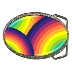 Background Rainbow Colors Colorful Belt Buckles by Pakrebo