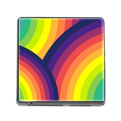 Background Rainbow Colors Colorful Memory Card Reader (square 5 Slot)