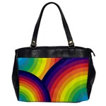 Background Rainbow Colors Colorful Oversize Office Handbag Front