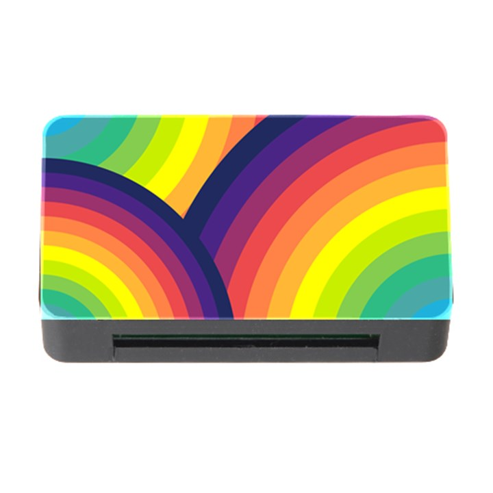Background Rainbow Colors Colorful Memory Card Reader with CF