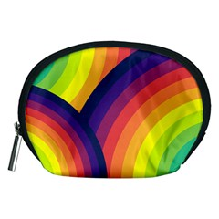 Background Rainbow Colors Colorful Accessory Pouch (medium)