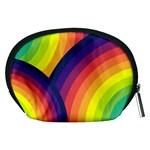 Background Rainbow Colors Colorful Accessory Pouch (Medium) Back