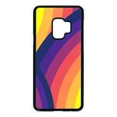 Background Rainbow Colors Colorful Samsung Galaxy S9 Seamless Case(black)