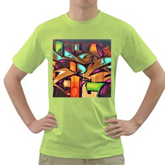 Graffiti Mural Street Art Wall Art Green T Shirt