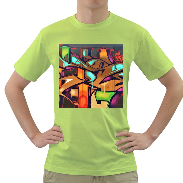 Graffiti Mural Street Art Wall Art Green T-Shirt