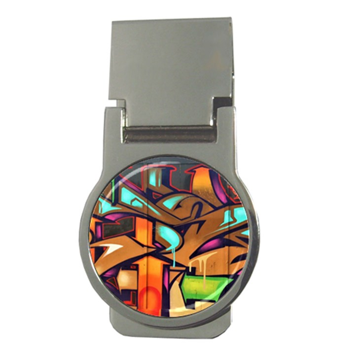 Graffiti Mural Street Art Wall Art Money Clips (Round)