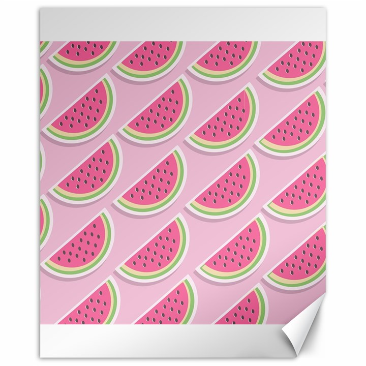Melons Pattern Food Fruits Melon Canvas 16  x 20