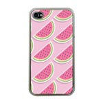 Melons Pattern Food Fruits Melon iPhone 4 Case (Clear) Front