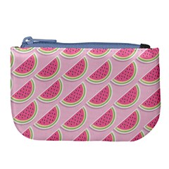 Melons Pattern Food Fruits Melon Large Coin Purse