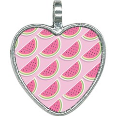 Melons Pattern Food Fruits Melon Heart Necklace