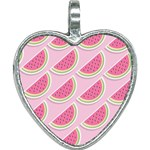 Melons Pattern Food Fruits Melon Heart Necklace Front