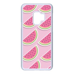 Melons Pattern Food Fruits Melon Samsung Galaxy S9 Seamless Case(white)
