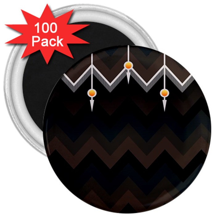 Background Pattern Non Seamless 3  Magnets (100 pack)