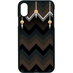 Background Pattern Non Seamless iPhone XS Seamless Case (Black) Front