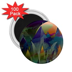 Mountains Abstract Mountain Range 2 25  Magnets (100 Pack)