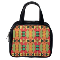 Pattern Orange Green African Classic Handbag (one Side)