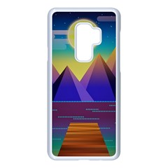 Jetty Landscape Scenery Mountains Samsung Galaxy S9 Plus Seamless Case(white)
