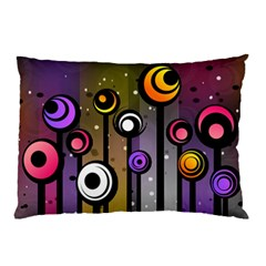 Abstract Flora Pinks Yellows Pillow Case (two Sides)