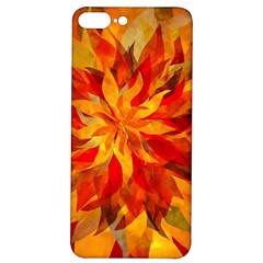 Flower Blossom Red Orange Abstract Iphone 7/8 Plus Soft Bumper Uv Case