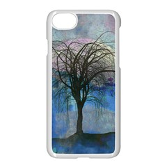 Tree Moon Sky Watercolor Painting Iphone 7 Seamless Case (white) by Pakrebo