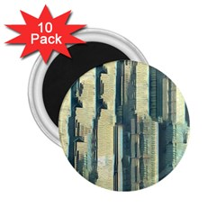 Texture Abstract Buildings 2 25  Magnets (10 Pack)