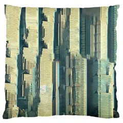 Texture Abstract Buildings Large Cushion Case (two Sides)
