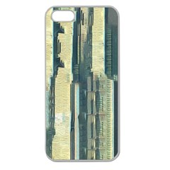 Texture Abstract Buildings Apple Seamless Iphone 5 Case (clear)