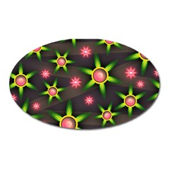 Non Seamless Pattern Background Oval Magnet