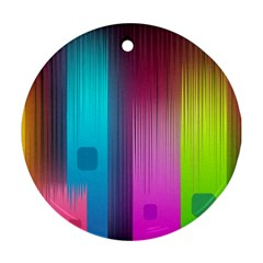 Abstract Background Colorful Ornament (round)