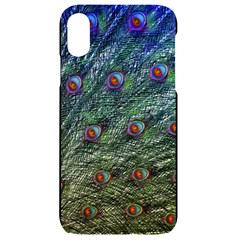 Peacock Feathers Colorful Feather Iphone Xr Black Uv Print Case