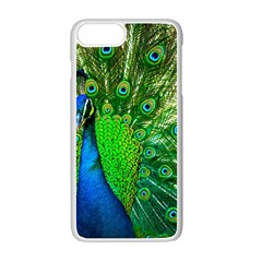 Peacock Peafowl Pattern Plumage Iphone 7 Plus Seamless Case (white)
