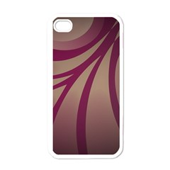 Background Abstract Digital Iphone 4 Case (white)