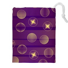 Background Purple Lines Decorative Drawstring Pouch (xxl)