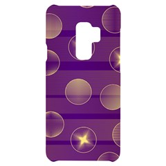 Background Purple Lines Decorative Samsung S9 Plus Black Uv Print Case