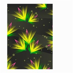 Background Floral Abstract Lines Small Garden Flag (two Sides)